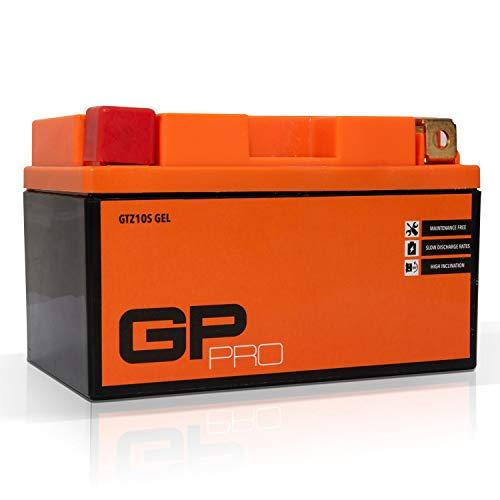 GP-PRO GTZ10S 12V 9Ah Gel-Batterie (Ähnlich YTZ10S / YTZ10-S) (Wartungsfrei / Versiegelt) Akkumulator Motorrad Motorradbatterie