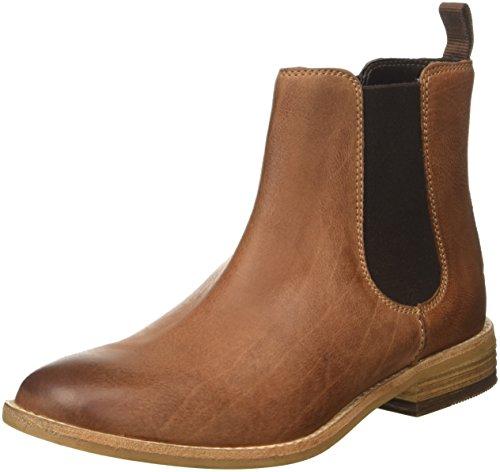 Clarks Damen Maypearl Nala Chelsea Boots, Braun (Dark Tan), 39.5 EU (Leder Braun Boots)