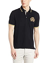 John Players Mens Cotton Polo (8902986917940_JCMCTSA160006003_Small_Jet Black)