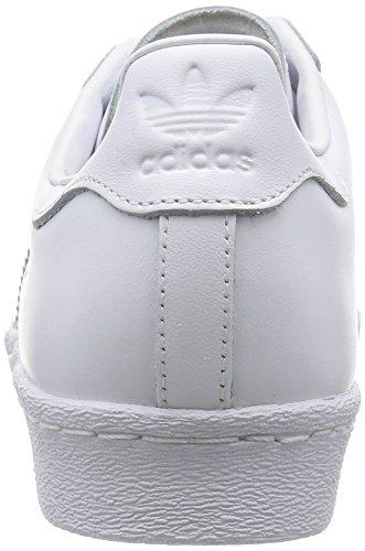 adidas Superstar 80s, Scarpe da Ginnastica Basse Uomo Bianco (Footwear White/footwear White/core Black)