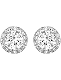 Swarovski Women's Rhodium Plating and White Crystal Angelic Pierced Earrings