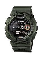 CASIO G-Shock GD-100MS-3ER - Reloj de caballero de cuarzo, correa de resina color verde