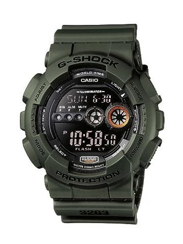 Casio G-Shock – Montre Homme Digital avec Bracelet en Résine – GD-100MS-3ER