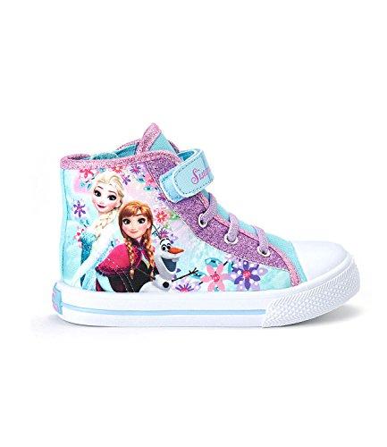 Elsa Mädchen Frozen Schuhe Die (Disney Die Eiskönigin Elsa & Anna Mädchen Sneaker high - türkis -)