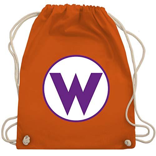 Karneval & Fasching Kinder - W Spiel Kostüm - Unisize - Orange - WM110 - Turnbeutel & Gym Bag (Heiße Nerd Kostüm)