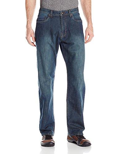 Prana Rogan Herren Jeans Relaxed Fit, Herren, Antique Stone Wash, 32W - Rogan Herren Jeans