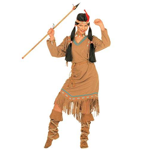 Pocahontas Damen Kostüm - Amakando Indianerkostüm Damen - XL (46/48) - Indianerinnenkostüm Indianer Kostüm Damen Pocahontas Damenkostüm Westernkostüm Indianerin Kostüm Cheyenne