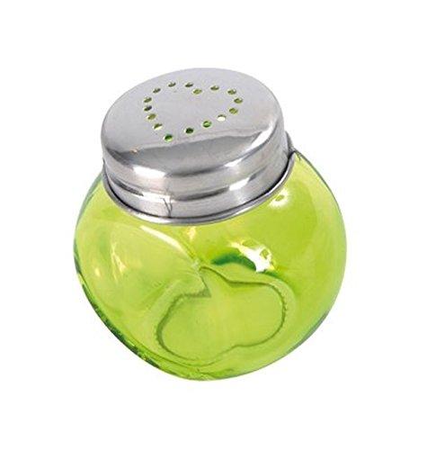Chal - Mini bonbonnière coeur vert anis Lot de 4