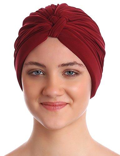 Pieghe W di stile del turbante per donne Perdita di Capelli