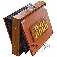 Shruti Box Raga Nr. 2, professionelles Modell, Teakholz von DO bis DO (DO3 bis DO4), 39 x 30 x 8.5 cm, Gewicht 3.5 kg, Stimmung 440Hz (432Hz auf Anfrage)