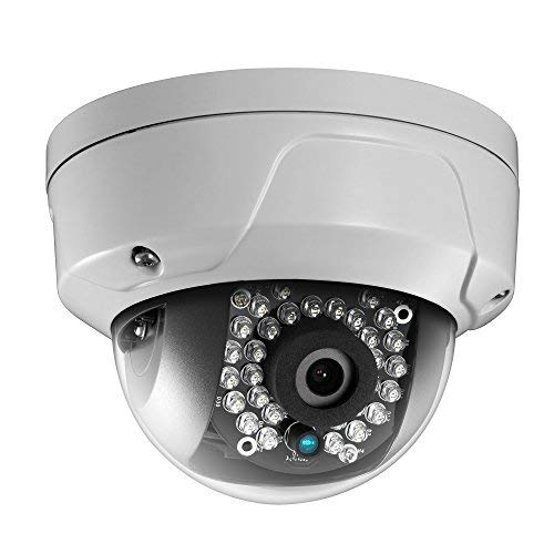 HiLook By Hikvision IPC-D121H-M 2.8mm 2MP 1080p Dome Camera with 30m Night Vision Wide Angle Lens IP67 Waterproof PoE