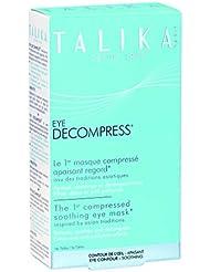 Eye decompress - Talika - Masque compressé apaisant regard - Masque contour de l'œil anti-cernes et poches - Masque relaxant contour des yeux - Boîte de 6 masques
