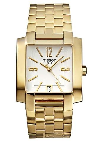 Tissot Men's Gold Tone Square Face Watch T60558132