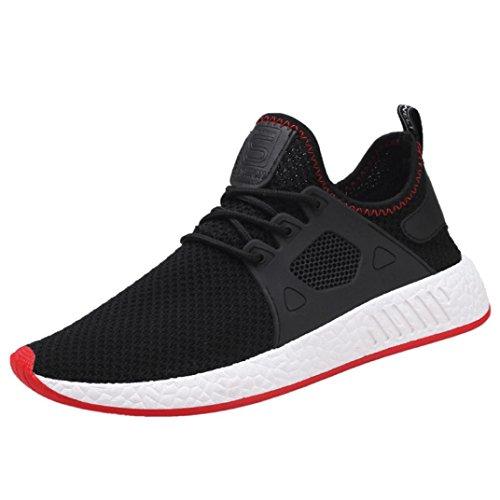 FNKDOR Herren Laufschuhe Freizeitschuhe Leichte Mode Sport Gymnastikschuhe Sneaker(Schwarz,39 EU (CN:40)) -