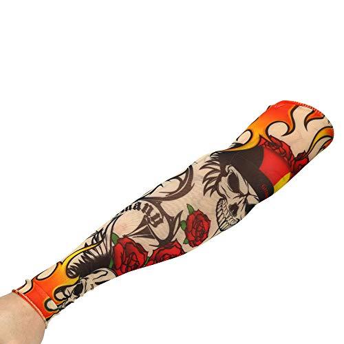 Tattoo Ärmel ,Unisex Nylon Tattoo Armstrumpf ,Sleeve Temporäre Tattoos Arm ,Tätowierung Armstrümpfe, Tattoo Strumpf Arm für Karneval Fasching Party