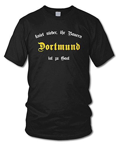shirtloge - DORTMUND - Kniet nieder ihr Bauern - Fan T-Shirt - Größe S - XXL Schwarz