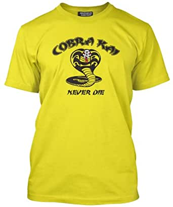 Cobra Kai Mens Yellow T-Shirt (Small)