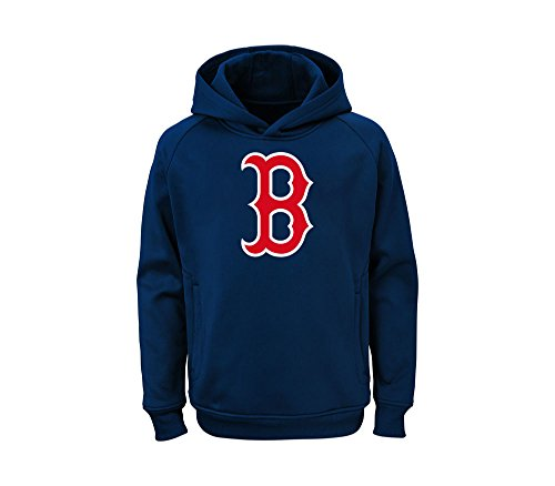 Outerstuff MLB Youth Team Color Performance Primary Logo Pullover Hoodie, Jungen, Boston Red Sox, X-Large 18/20 US Red Youth Hoodie