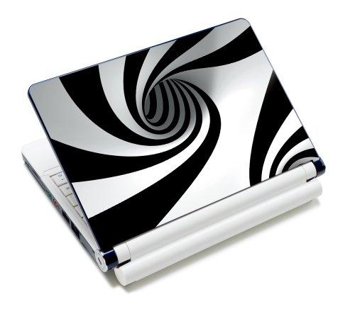 Luxburg® Design Aufkleber Schutzfolie Skin Sticker für Notebook Laptop 10 / 12 / 13 / 14 / 15 Zoll, Motiv: Abwärtsspirale