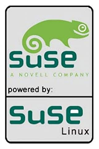 Notebook-Sticker, powered by Suse Linux