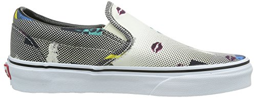 VANS - CLASSIC SLIP ON - Van Doren Black 80's Lips Multicolour
