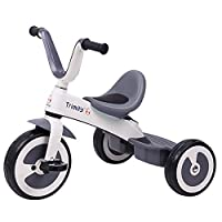 MC-F Kids Tricycle Magnesium Alloy Frame. Adjustable Seat Children 3 Wheel Pedal Bike, for 2-6 Years Kids and Toddlers - 80-120 CM,Gray