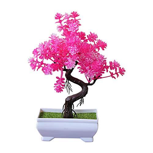 BIGBOBA Unechte Blumen Bonsai Simulation Potted Plants Künstliche Deko Blumen Gefälschte Blumen Garten Party Blumenschmuck