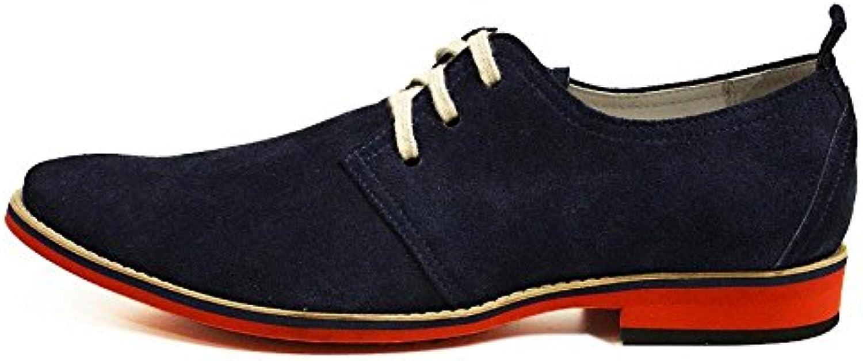 Modello Amadeo - Handmade Italiano da da da Uomo in Pelle Blu Navy Scarpe da Sera - Vacchetta Scamosciato - Allacciare | Design professionale  | Scolaro/Ragazze Scarpa  39d070