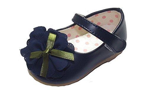Cinda bébé Flower Girls Chaussures Bleu