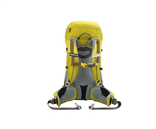 Yy.f50L Im Freien Ultraleichten Rucksack Professionelle Bergsteigen Taschen Rucksäcke Wanderrucksäcke Reisen Reiten Rucksack Regt Abdeckung. 3 Farben Yellow