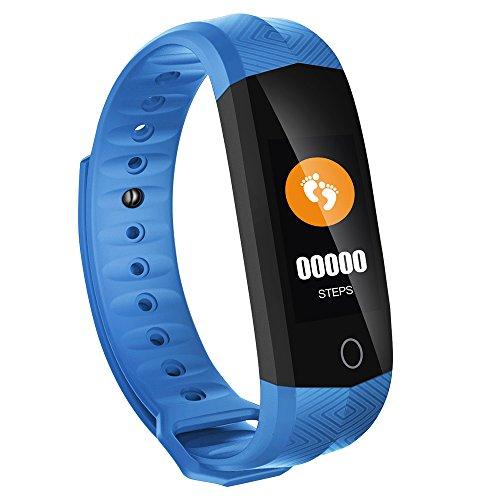PHIPUDS Smartwatch, Reloj Inteligente Impermeable IP67 Con Pulsómetro, Cronómetro, Monitor de sueño,Podómetro,Calendario, Pulsera Actividad para Android y iOS Hombre Mujer niños Reloj de Fitness 3