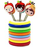 #10: Swarish Cartoon Shaped Stainless Steel Fruit Fork Set With Round Stand