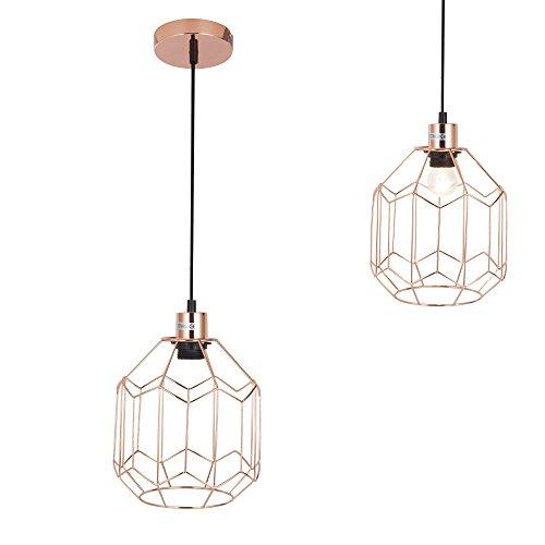 [lux.pro] Lampada a sospensione Vintage E27 Ottone Sala da pranzo Lampada da soffitto Lampada sospesa