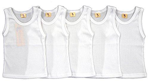 5er Set Unterhemd Feinripp weiß Größe 80-140 (80)