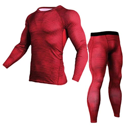CuteRose Mens Floral Printed Bodysuit Stretch Fast Dry Compression Baselayer Red XL - Juicy Couture Velour