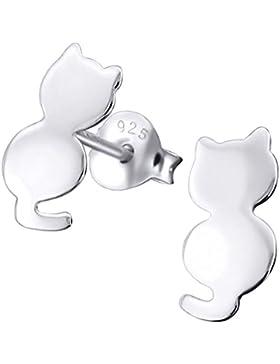 So Chic Schmuck - Ohrstecker Katze Sterling Silber 925