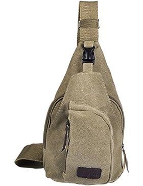 Faleto Herren klein Military Messenger Schultertasche Reise Wandern Outdoor Sport Tasche Sling Bag Unwucht Rucksack...