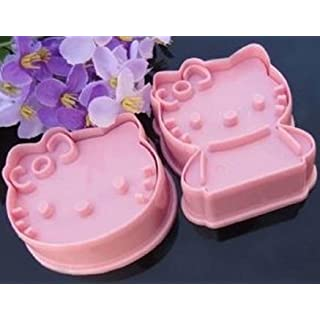 Allforhome Hello Kitty Cookie Cutters Embossing Tool Moulds