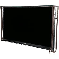 Yellow Weaves Transparent PVC Television Cover For 42 Inches LED/LCD