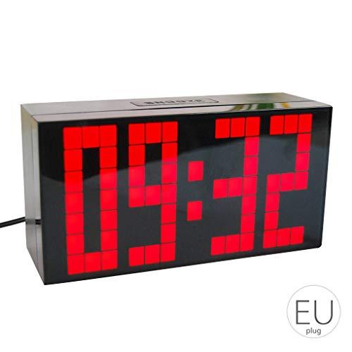 Yangge Yujum Digitale Studenten Weckersnooze Temperatur Elektronischer Kinder Bürotisch-Wandhalterung Uhr -