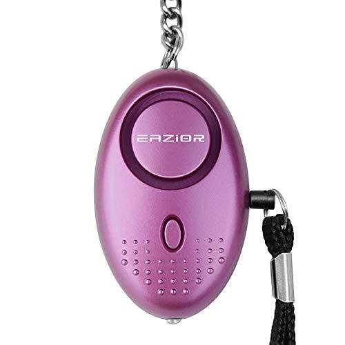 Alarme personnelle, Eazior Portable d'urgence Sécurité alarmes Self-Defense 140 dB Décibels avec éclairage LED porte-clés pour femmes, enfants, filles âgées de sécurité, violet Eazior