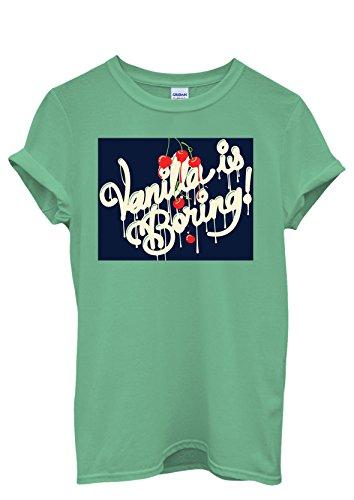 Vanilla is Boring Joke Cool Funny Hipster Men Women Damen Herren Unisex Top T Shirt Grün