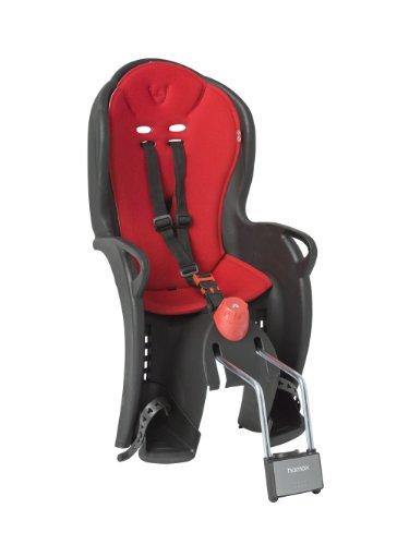 HAMAX Kinderfahrradsitz Sleepy Kindersitze, schwarz/rot, One Size