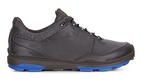 Hydromax Golfschuh (Ecco Biom Hybrid 3 Black/Bermuda Blue UK 7.5)