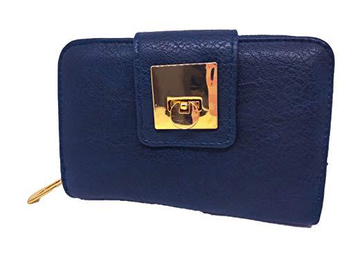 portafoglio piccolo donna con apertura tipo borsa (blu)