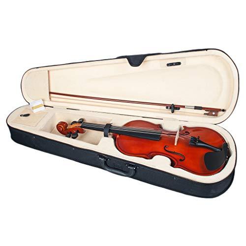 Shiwaki Professional 1/8 Violine Geige Massivholz für Anfänger mit Hartschalenkoffer, Bogen, Brücke und Kolophonium