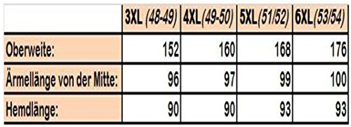 Arrivee Langarmhemd 3XL-6XL (47/48 - 53/54) weiß