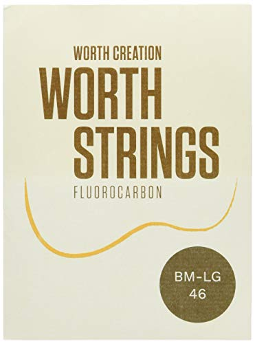 Worth Strings Low-G Ukulelen-Saiten, Brown Fluoro-Carbon, für Konzert-/Sporan-Ukulele