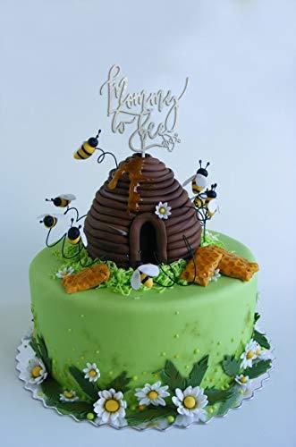 Andrea1Oliver Mama, Cake Topper zu Sein Mama zu Biene Cake Topper Baby Dusche Cake Topper Geschlecht offenbaren Cake Topper Rose Gold Baby Shower