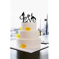 Acrilico Amore Wedding Cake Topper per torta